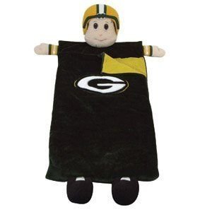 6' NFL Green Bay Packers Mascot Snuggly Soft Children's Sleeping Bag by Scottish Christmas. $90.00. Green Bay Packers Children's Sleeping BagItem #07322Officially licensed merchandiseSpend the night wrapped in team spirit Cute sleeping bag features the team's official colors and logo on the front and displays the players or mascots head, arms and feetRecommended for indoor use onlyAll materials used are NOT waterproofFor ages 3-12Dimensions: 6 feet longMaterial(s):...