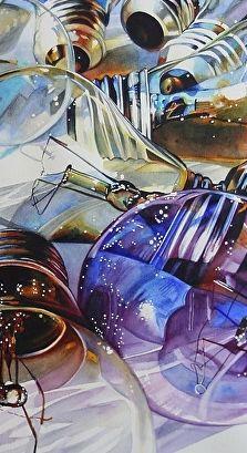 Incandescent (cloes-up). Art of Carrie Waller WATERCOLOR
