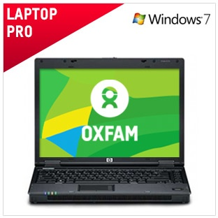 Laptop Pro - €290 / £225  This computer has been refurbished to the highest standard. Top of our range, it's fast, powerful and has huge storage.  Ideal for complex programs, graphics and multimedia. Comes with a 6 month warranty.  And by buying this computer you're helping to raise vital funds for our work around the world.   Full spec and more info here: https://www.oxfamireland.org/computers/laptop-pro