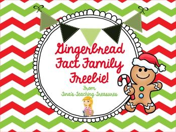Gingerbread Fact Family Freebie! Very nicely put together. This is for addition and subtraction, but it could easily be adapted for multiplication and division.