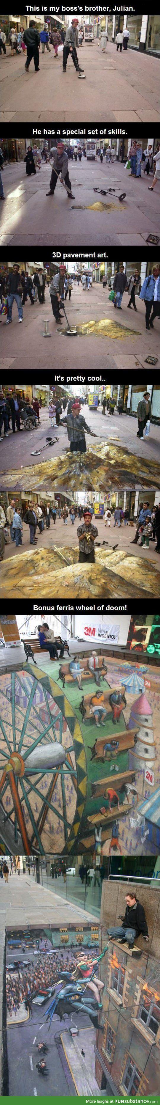 3D pavement art - FunSubstance.com.