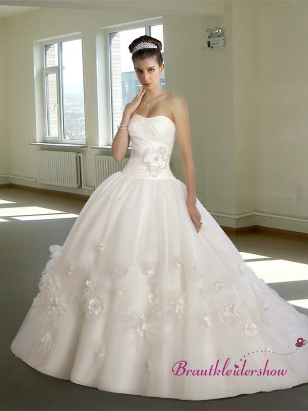 16 best Brautkleid Trägerlos images on Pinterest   Short wedding ...