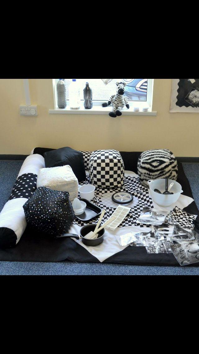 Black and white sensory area