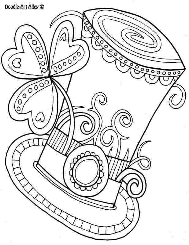 Shaffer Stock Saint Patrick Hat With Clover For Relaxing Zen Art