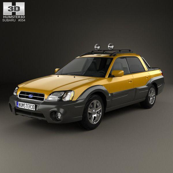 Subaru Baja 2002 3d model from Humster3D.com.