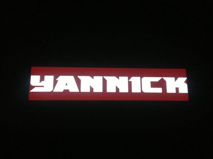 Plaque prénom routier Yannick