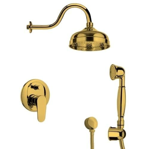 Nameeks SFH6526 Remer Shower System with Multi Function Rain Shower Head, Hand Shower, Hand Shower Holder, and Rough In (
