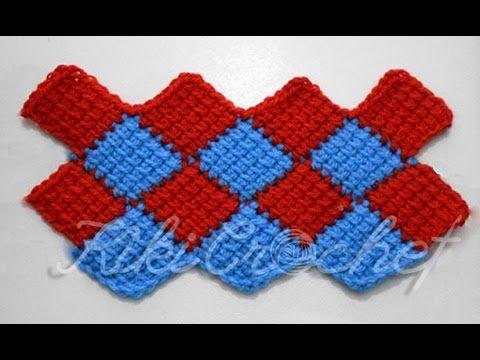 Crochet Entrelac Stitch - YouTube