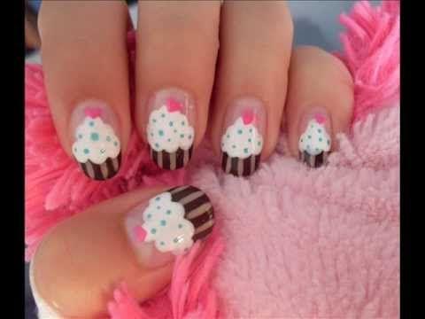 The 25 best cupcake nail art ideas on pinterest mermaid nail cute easy cupcake nail art prinsesfo Gallery