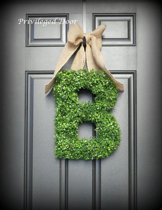 17 best ideas about letter wreath on pinterest
