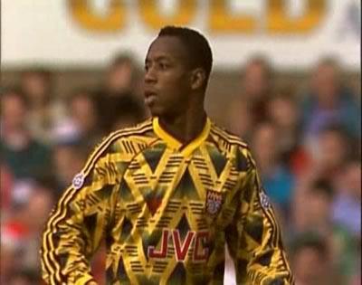 Arsenal away.  1991 - 1993.  Wright, Rocastle, Limpar et al.