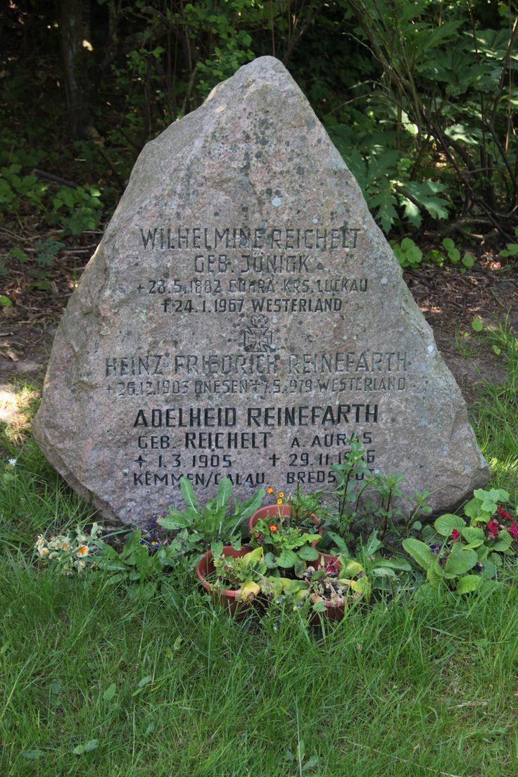 Grave of Heinz Reinefarth at Keitum Cementery next to Saint Severin Church