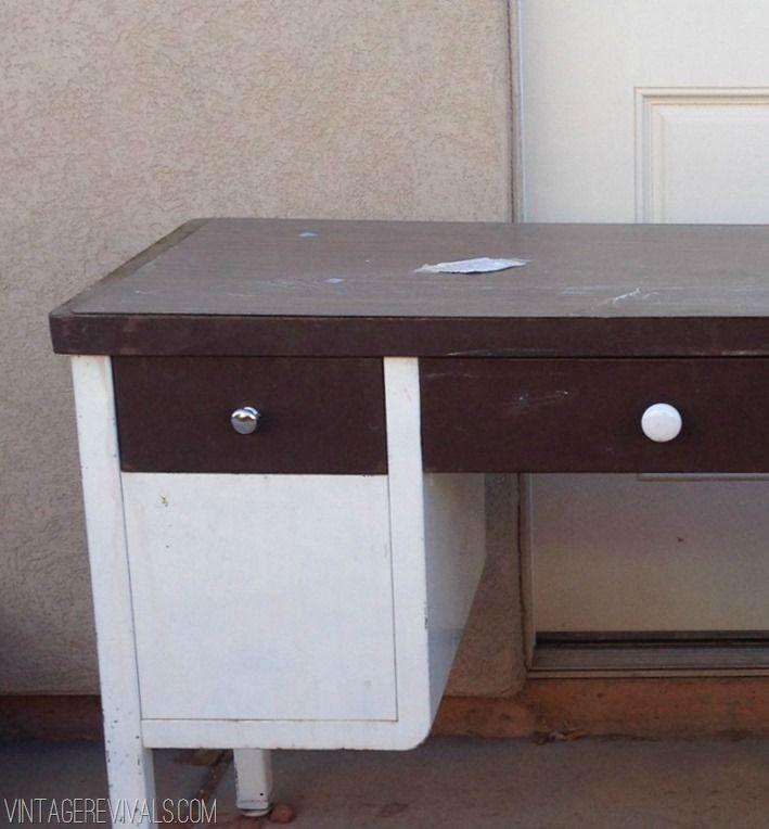 Vintage Revivals | How To Spray Paint A Metal Desk