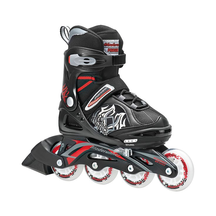 Adjustable kids skate that expands four full sizes so they can grow with the child's feet. 72mm wheels with ABEC 3 bearings provide a smooth roll, the buckle, powerstrap and lace closure ensure a secure fit while the lightweight, supportive and comfortable boot round out the premium performance for its budget price.