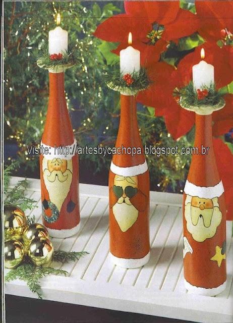 Kerst fles met Kaars