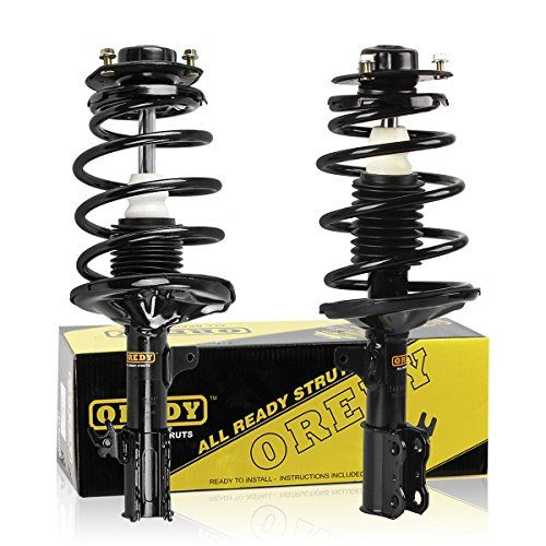 Front Pair Complete Strut Shock Assembly for 1997-2001 Toyota Camry 4CYL 1999-2003 Toyota Solara 4CYL. For product info go to:  https://www.caraccessoriesonlinemarket.com/front-pair-complete-strut-shock-assembly-for-1997-2001-toyota-camry-4cyl-1999-2003-toyota-solara-4cyl/