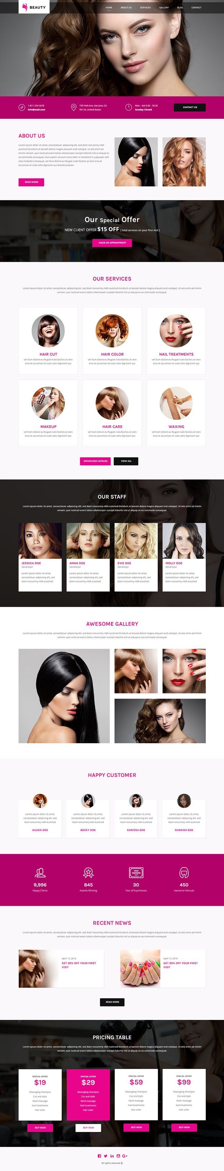 """Check out my @Behance project: """"Beauty - Responsive Hair and Beauty Salon…"""