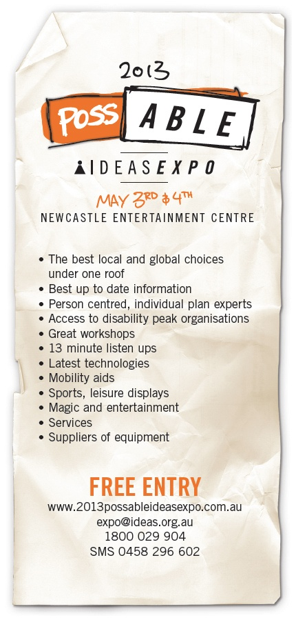 Promo flyer for the 2013 Possable IDEAS Expo
