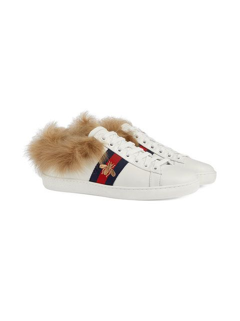 a0c7f5ab9 Gucci Ace Sneaker With Fur in 2019 | Shoes ✧ | Gucci ace sneakers ...