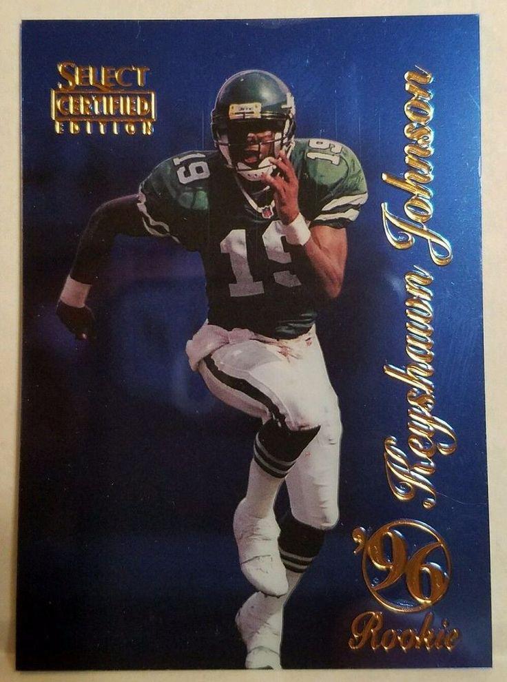 Keyshawn Johnson Football Card Select Certified Edition Blue 1996 Rookie NY Jets #NewYorkJets #forsale #keyshawnjohnson #footballcard #selectcertified #ebay #thejets #nyjets #nfl #sportscard #cardcollector #vintagecard http://ow.ly/I9u3306ydEP