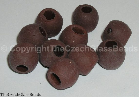 50g Czech Vintage Sintered Saucer Beads 16mm by TheCzechGlassBeads