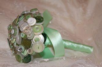Mint green button bouquets - Forever button bouquets