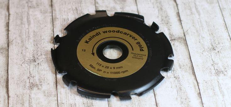 Der Woodcarver Gold von Kaindl ein Schnitzfräser der auf jedem Standard Winkelschleifer montiert werden kann. Einfach bestellen im Arbortech Shop.