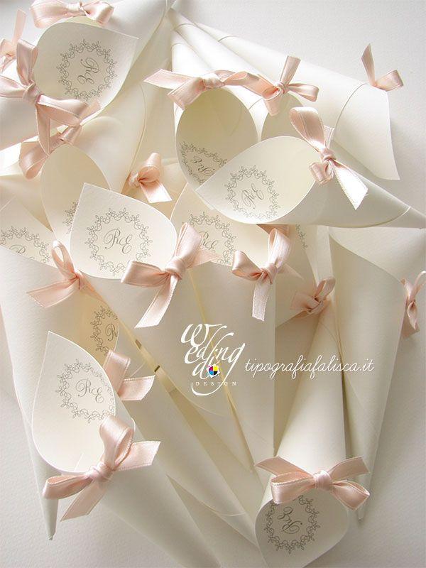 Coni Portariso E Coni Portaconfetti Personalizzati Wedding Design Tipografia Falisca Con Immagini Idee Per Matrimoni Partecipazioni Per Matrimonio Matrimonio