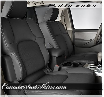 2008 - 2012 Nissan Pathfinder Black Leather Interior - canadaseatskins.com #leatherseats #nissan #pathfinder