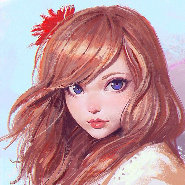 Red Flower by Ilya Kuvshinov, via Behance