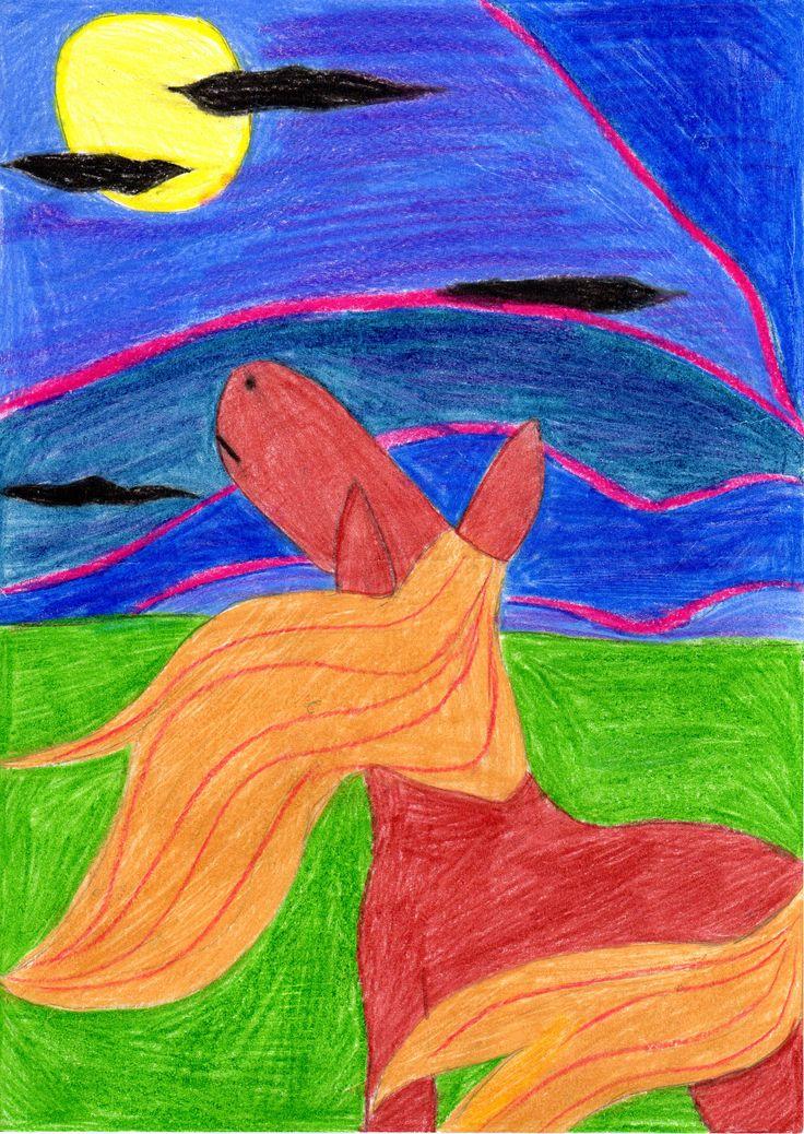 Silvia RIGON - 10 anni di Poianella di Bressanvido (VI) Titolo: Luna. Vincitrice del Traguardo d'Autunno della 7a edizione
