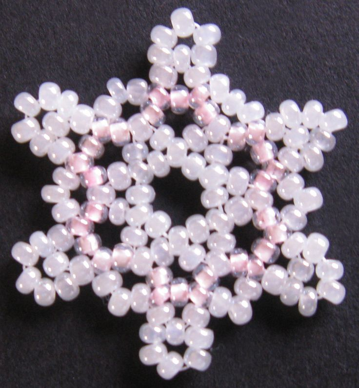 Pink Snowflake - from pattern
