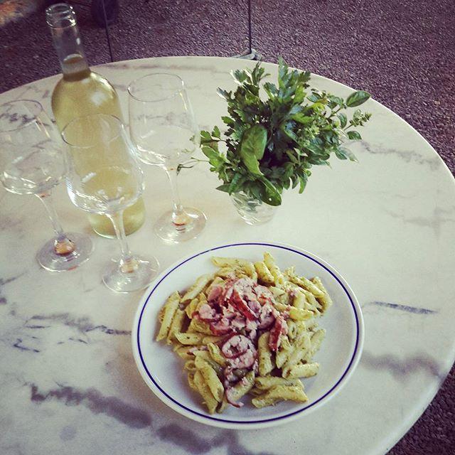#italy #tuscany #volterra #villamagna #italianfood #wine #pasta #pestoallagenovese