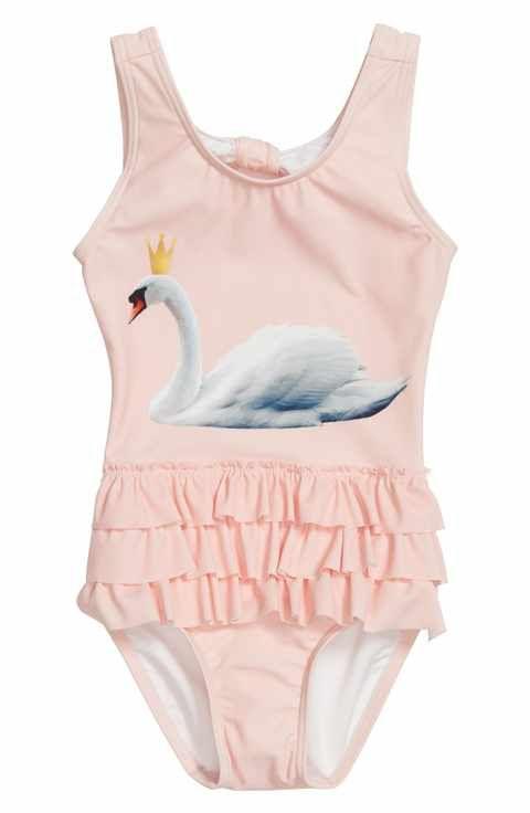 931ed24c6 Tucker + Tate Swan Graphic One-Piece Swimsuit (Toddler Girls, Little Girls  & Big Girls)