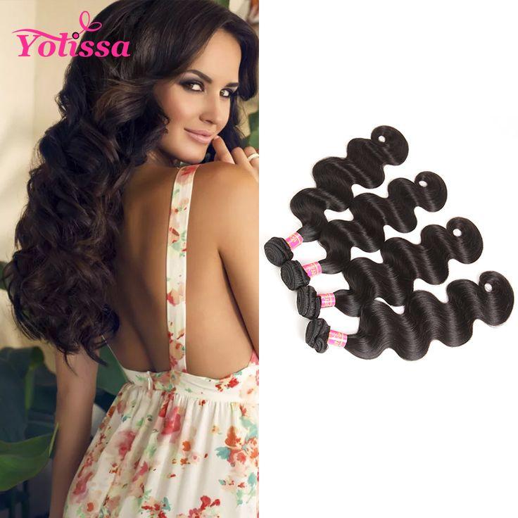Yolissa 100% Human Hair Bundles 1 Piece Only Natural Black Brazilian Body Wave Hair Weaving 10-28 Inch human Hair Free Ship