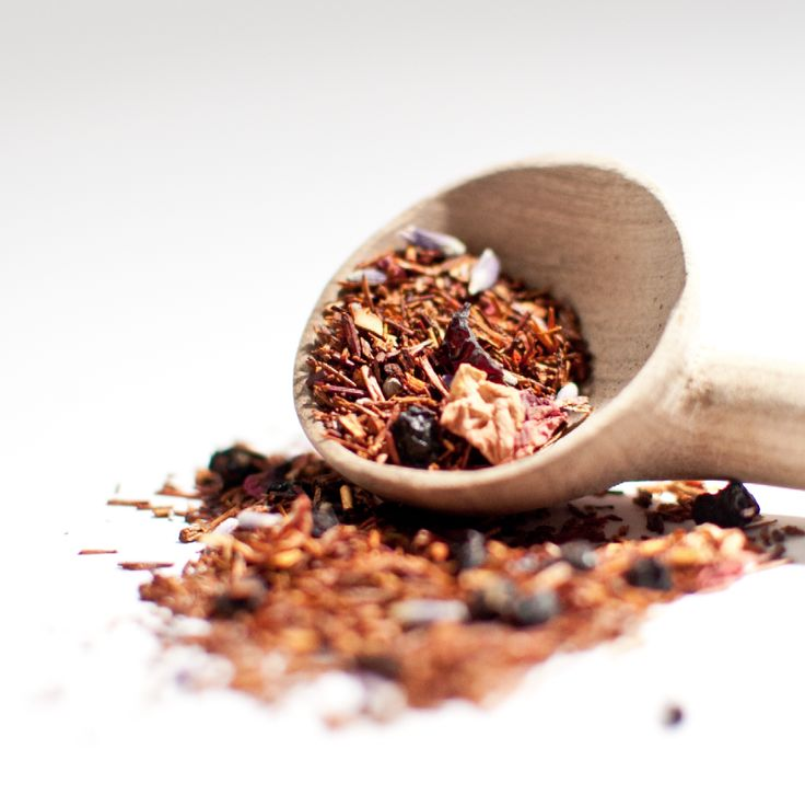 Fruity Rooibos Herbal Tea. This blend is an intoxicating and tranquil tisane of rooibos, rosehips, billberries, lavender, rose flowers  natural flavours. http://www.ladybakersteatrolley.com/products-page/herbals/fruity-rooibos-herbal-tea/