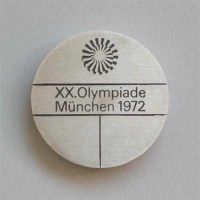 Munich 1972 Olympics Participation Medal (Front) - Otl Aicher