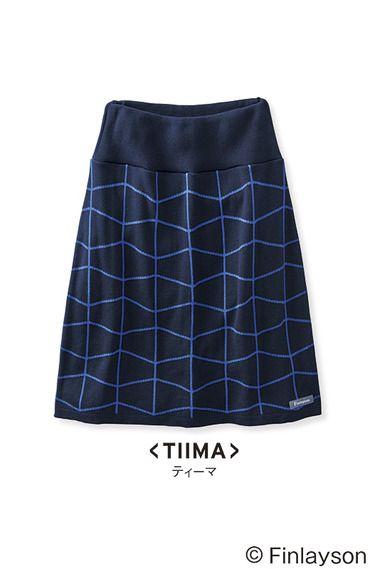 フィンレイソン インナーパンツ付きニットスカート TIIMA ティーマ