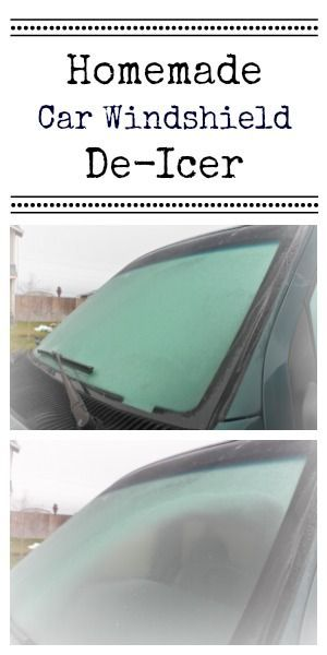 Homemade windshield de-icer = 2 parts rubbing alcohol and 1 part water. Ice melts instantly. Works on locks too!