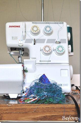 Tuto pour confectionner une poubelle pour surjeteuse Hammer & Thread: Thread Catcher Tutorial