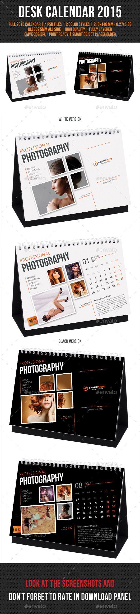 Creative Desk Calendar 2015 Template | Buy and Download: http://graphicriver.net/item/creative-desk-calendar-2015/9537572?ref=ksioks