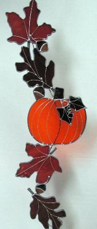 Autumn leaves/pumpkins window catcher
