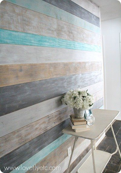 DIY Plank Wall Paint Tutorial.