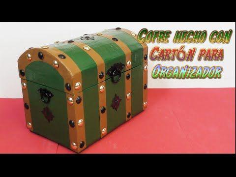 Caja maleta de cartón - YouTube