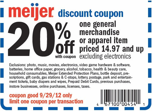 Meijer Coupons. Find the best of Meijer promo codes, coupons, online deals and in Top Brands & Savings · + Coupons Available · Online Coupon Codes Free.