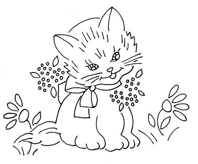 129 Best Embroidery Cats Images On Pinterest Embroidery