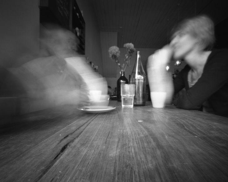 Palomino Cafe, Northcote. Silver gelatin photograph from 4x5 pinhole negative.