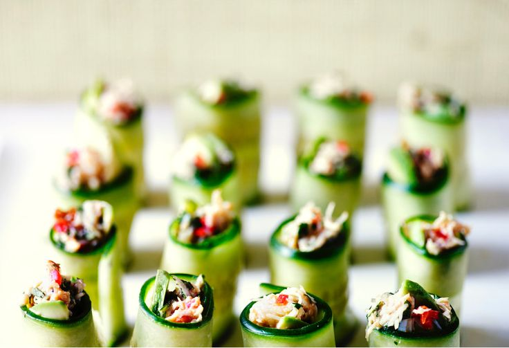 If crab and cucumber sandwiches are the height of sophistication, combining the two together must make a canape fit for the Queen.