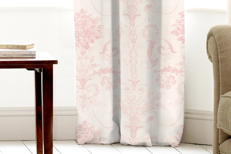 Josette Carnation Curtain fabric - pretty. | My Bedroom Redesign ...