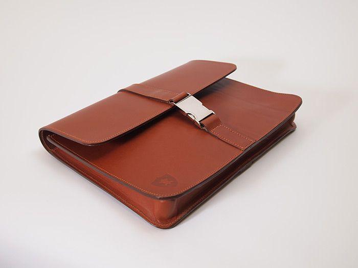 Haldall  - 12 inch London Tan folio bag #madeinbritain
